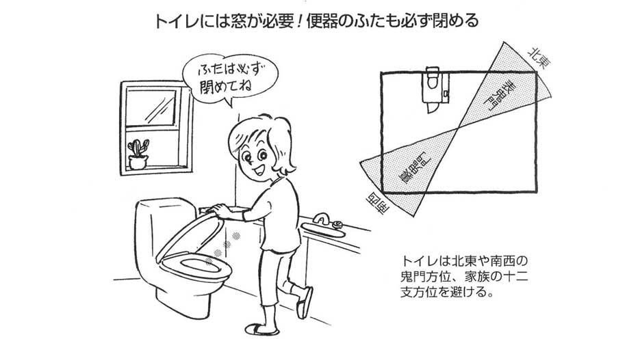 【実践できる家相建築の知恵―43】<br/>トイレは設備の向上で、「臭い」「汚い」のイメージは減少したが、家相上は不浄物として要注意。